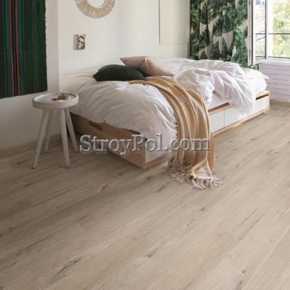 Виниловый ламинат Quick-Step Alpha Vinyl Medium Planks AVMP40200 Дуб Хлопковый Белый